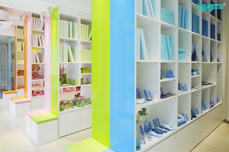 طراحی داخلی فروشگاه لوازم خانگی با تاکید بر مفهوم رنگ ها