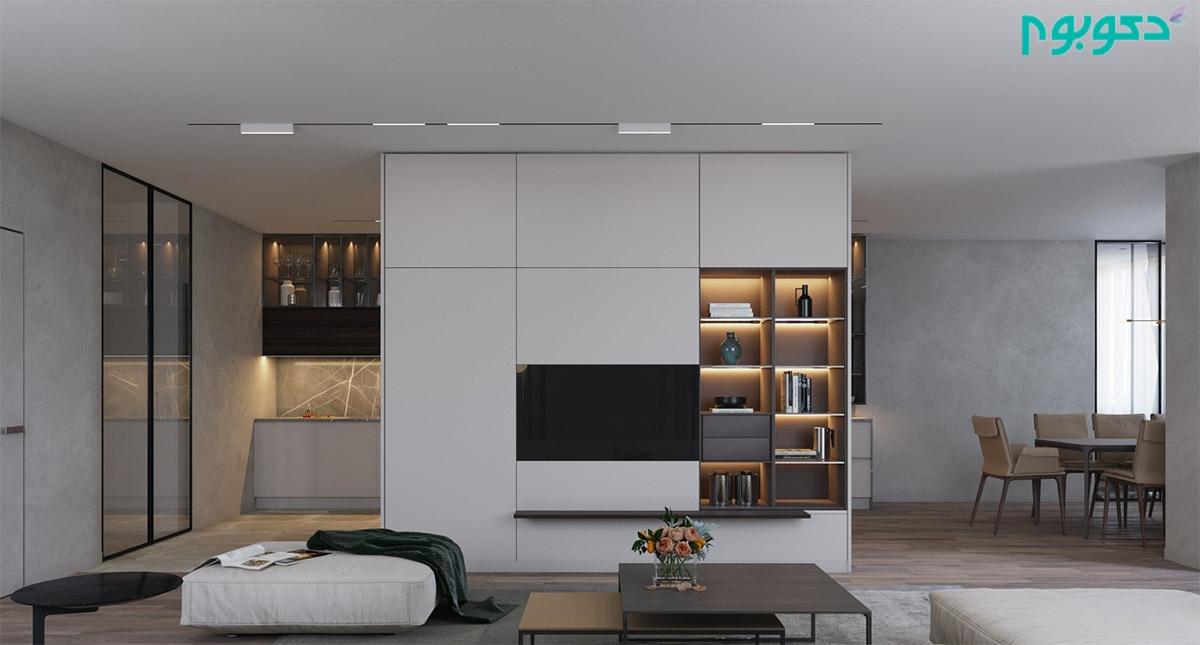 تزئین و طراحی دیوار پشت تلویزیون با 50 ایده جدید و زیبا دکوراسیون داخلی دکوبوم