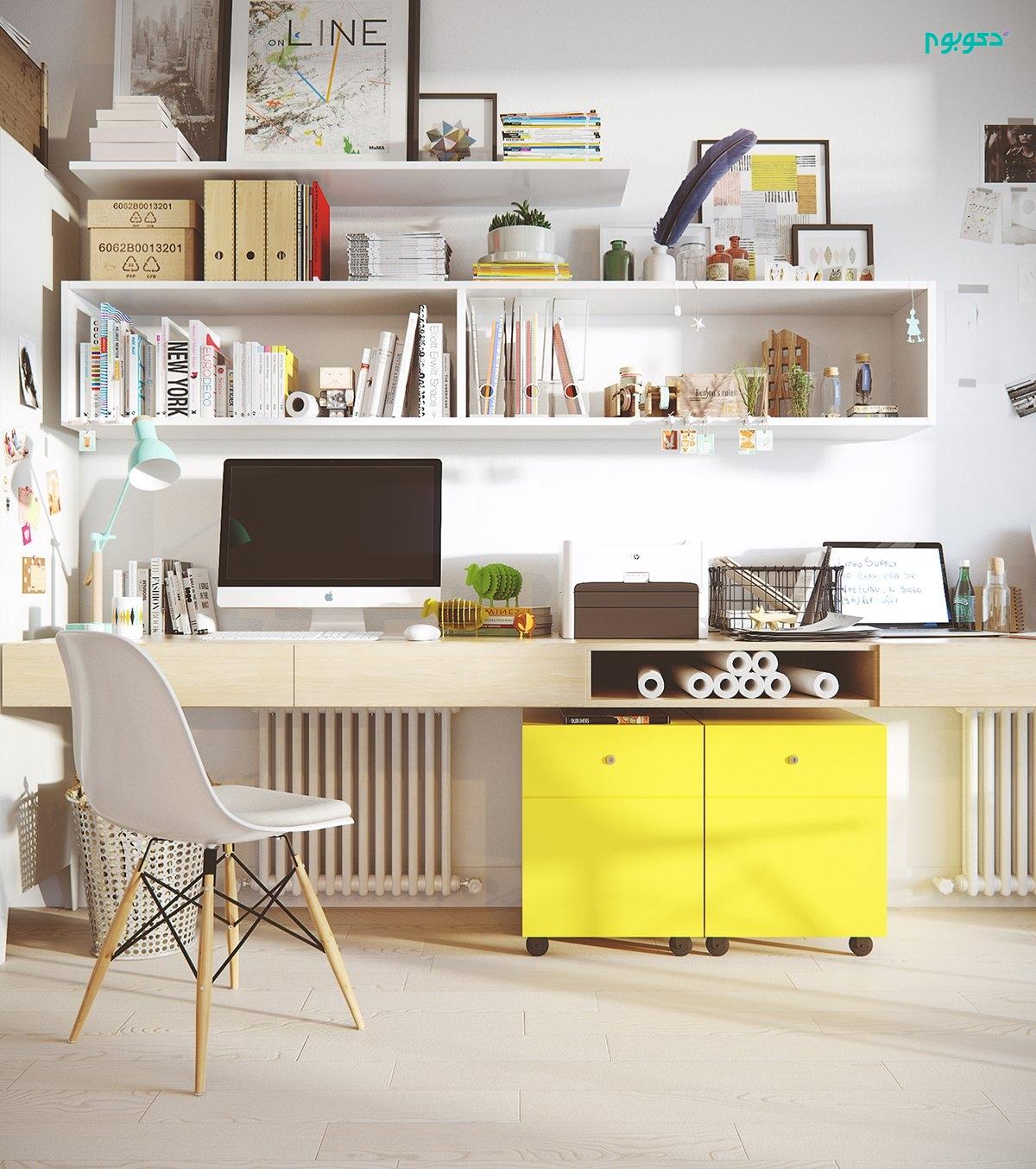 دکوراسیون ۵۰ اتاق کار زیبا و کاربردی در منزل