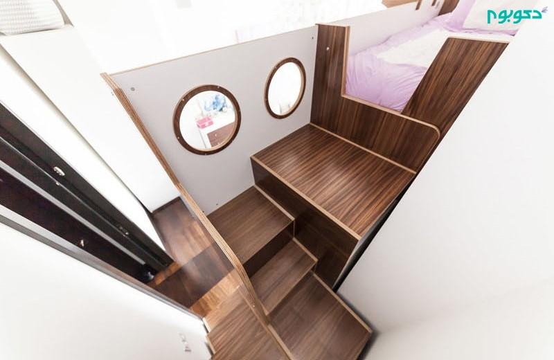 تختخواب سه طبقه سفارشی و ترکیبی در دکوراسیون اتاق کودک
