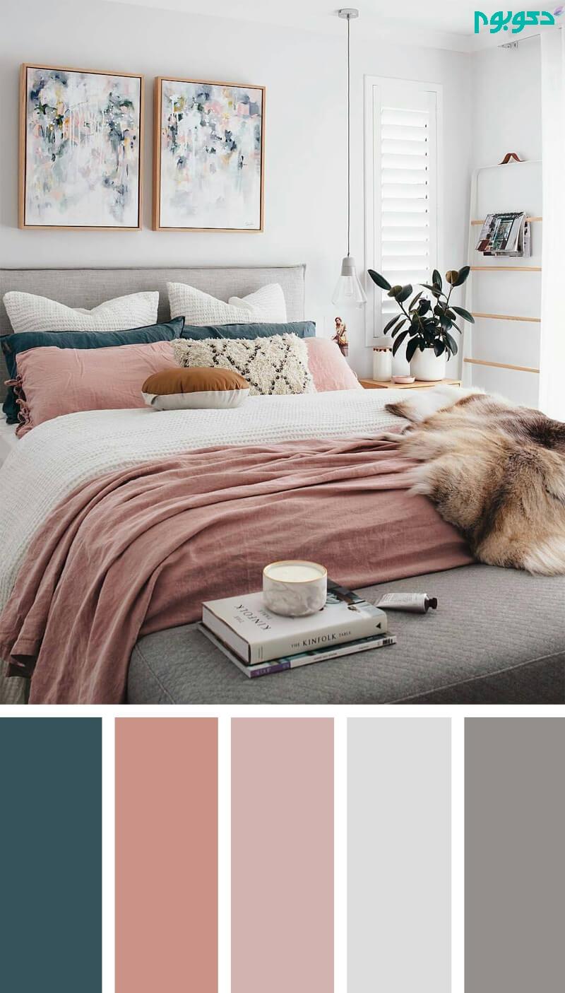 12 ترکیب رنگی خیره کننده برای دکوراسیون اتاق خواب | دکوراسیون داخلی دکوبوم