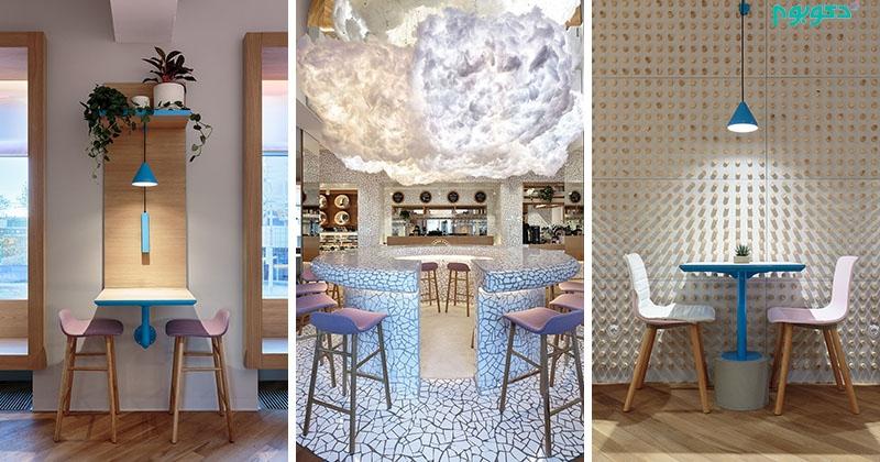 طراحی داخلی کافه ای مدرن و متفاوت   دکوراسیون داخلی دکوبوم