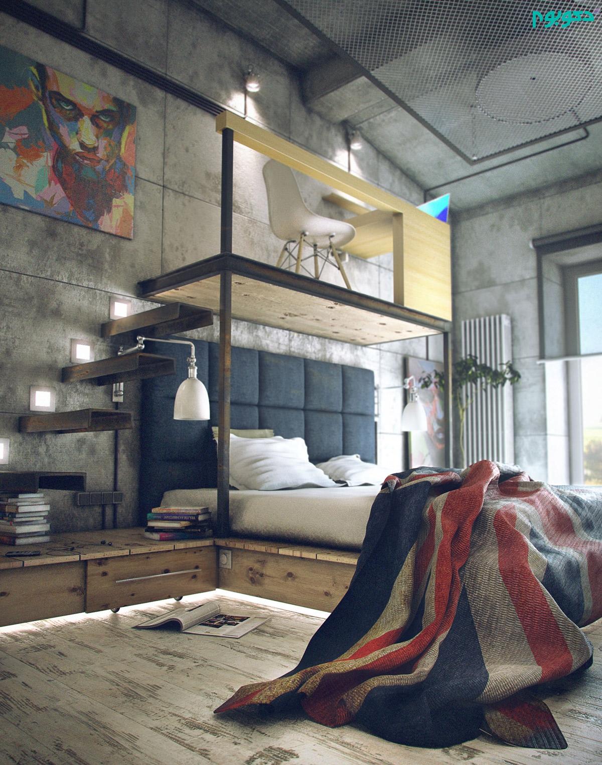 دکوراسیون اتاق خواب متفاوت