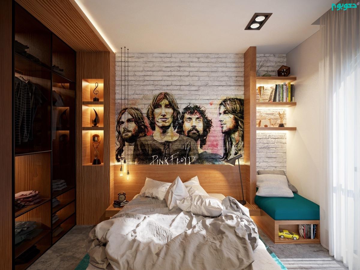 استفاده از تصاویر در دیوار اتاق خواب