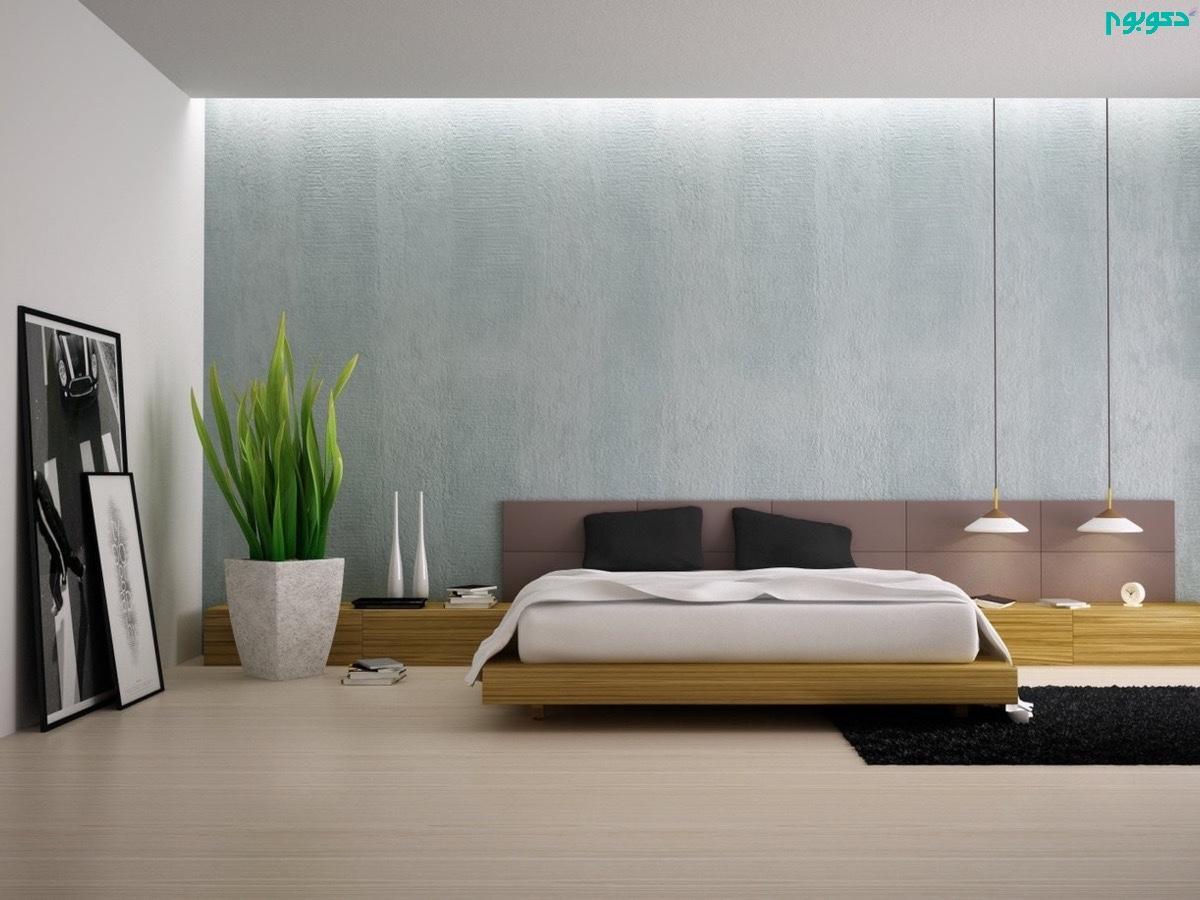 استفاده از گیاه از دکوراسیون اتاق خواب