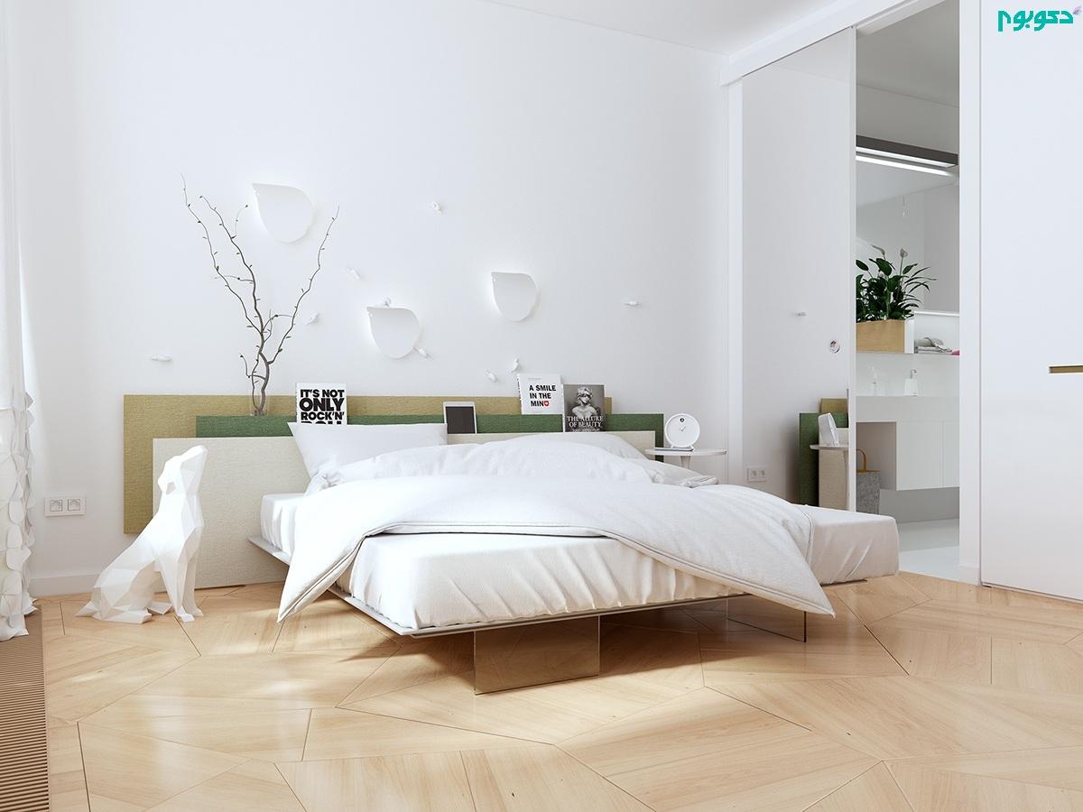 دکوراسیون اتاق خواب سفید
