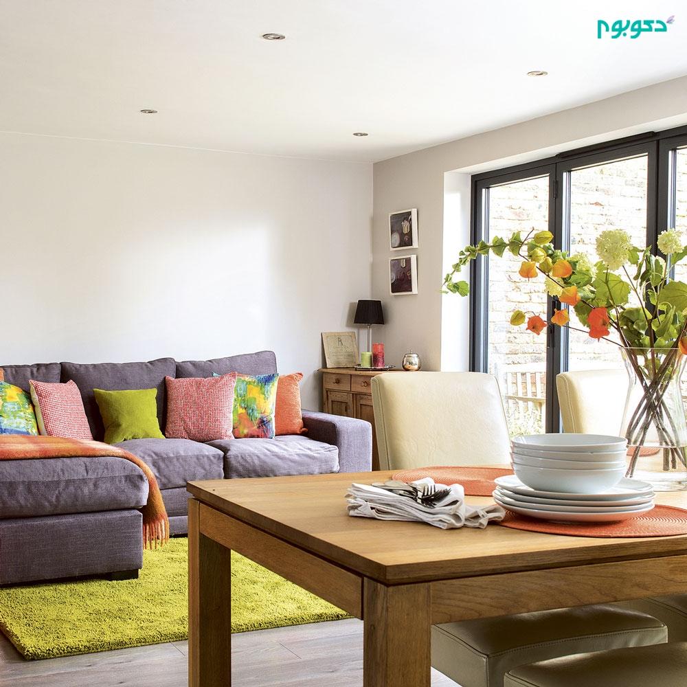 دکوراسیون داخلی منزل با رنگ های گرم، چرا و چگونه