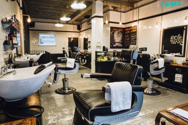 طراحی داخلی و دکوراسیون آرایشگاه مردانه