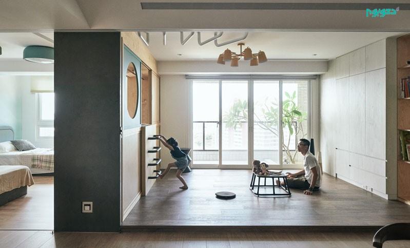 طراحی کمد تونلی در اتاق کودک
