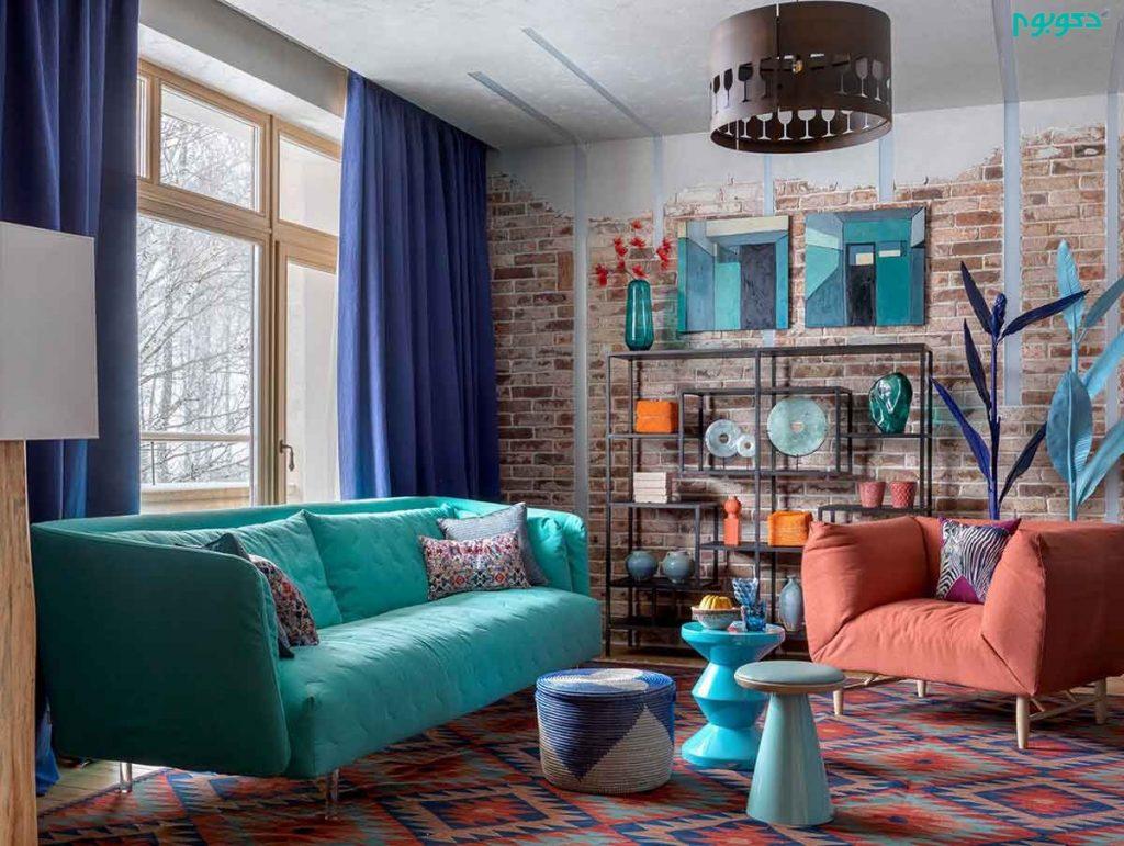 دکوراسیون خانه ای رنگارنگ