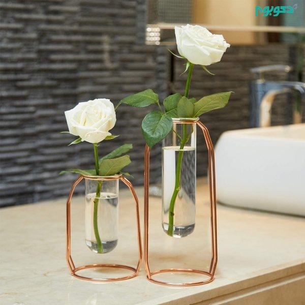 گلدان شیشه ای زیبا و متفاوت در دکوراسیون منزل