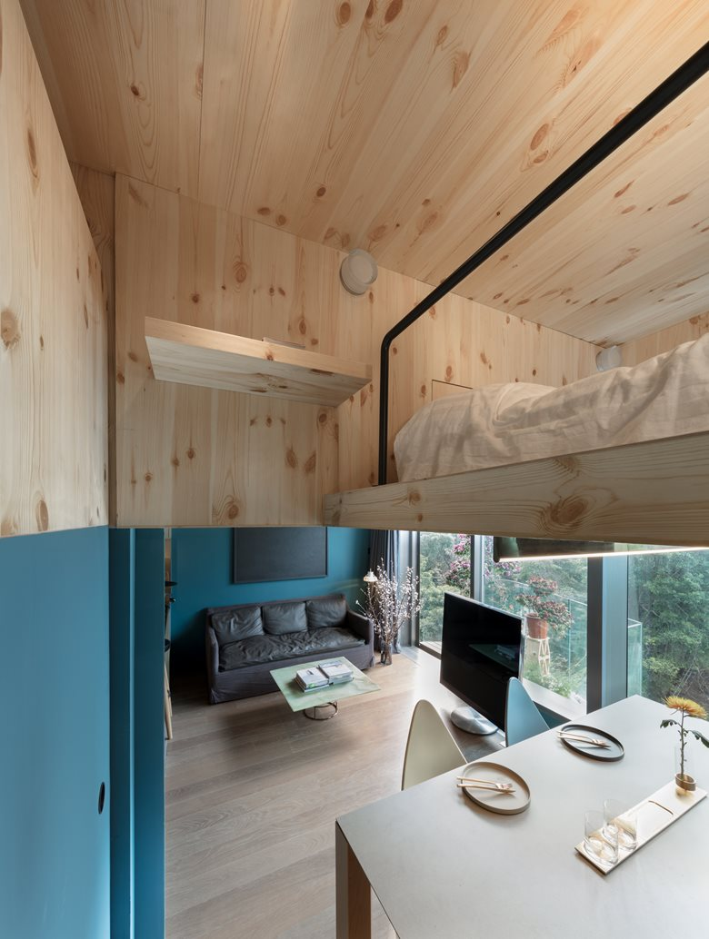 طراحی داخلی خانه جنگلی 35 متری
