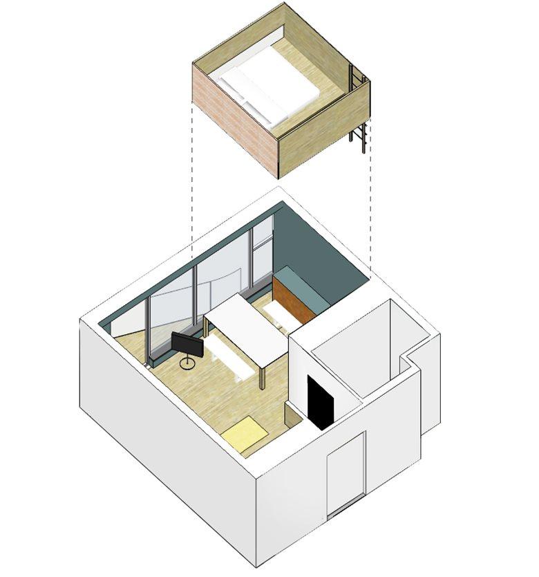 سه بعدی خانه جنگلی 35 متری