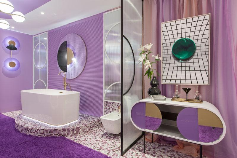 طراحی داخلی اتاق هتل با تجربه بصری متفاوت