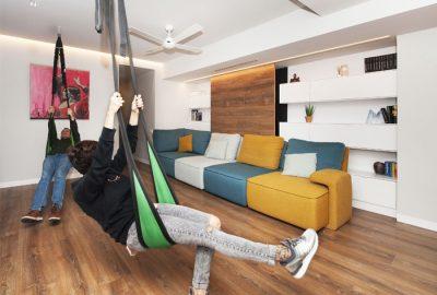 طراحی داخلی و بازسازی خانه ای هوشمند با مبلمان مدولار