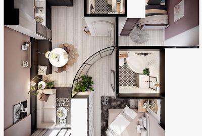 دکوراسیون آپارتمانی کوچک