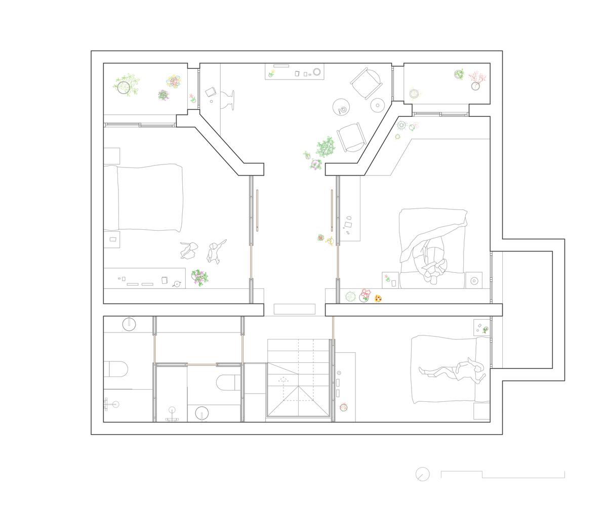 پلان باغ آپارتمان