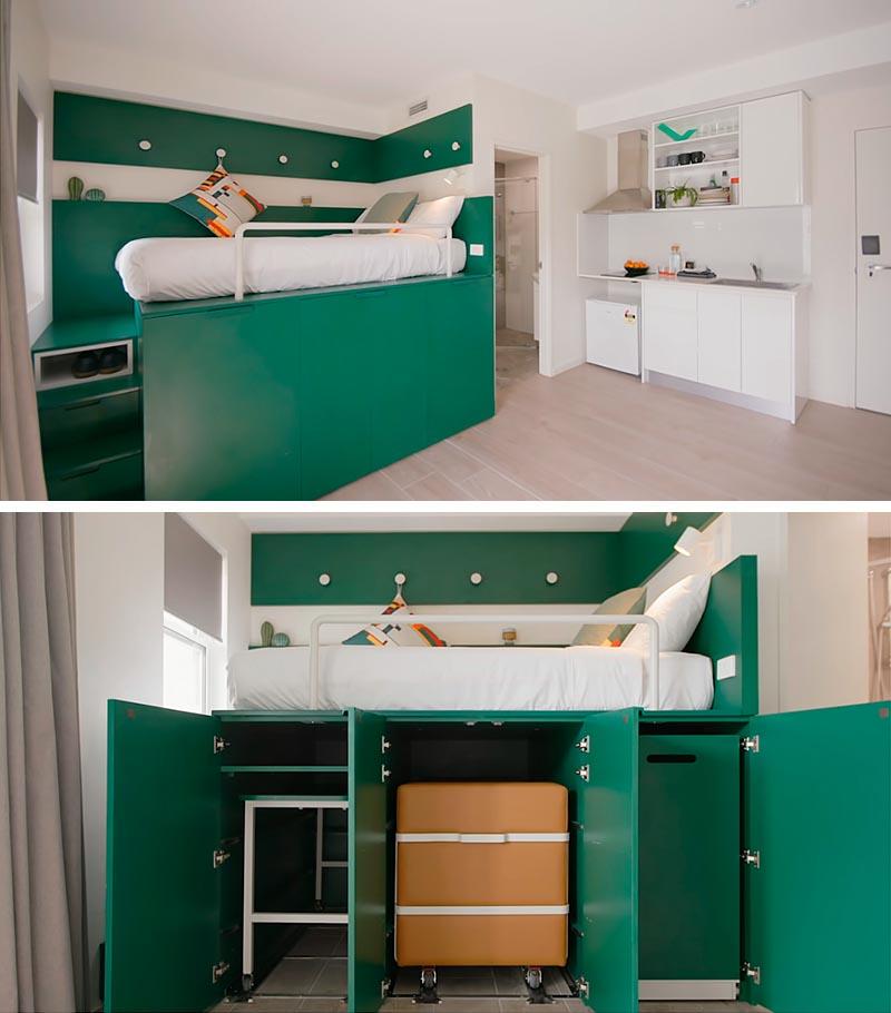 طراحی و دکوراسیون داخلی میکرو آپارتمانی ۱۸ متری