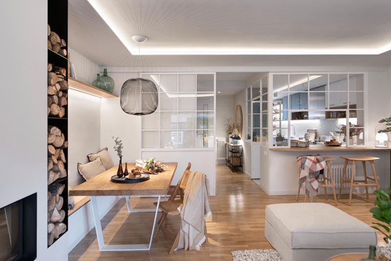 نشیمن در بازسازی خانه مدرن